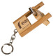 Rectangle USB Flash Drive with Flip Style Close on Key Chain
