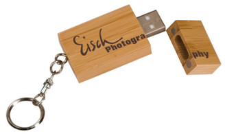 Rectangle USB Flash Drive with Magnetic Cap on Key Chain