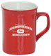 Personalized and Laser Engraved Ceramic Coffee Mug - Red