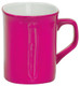 Personalized and Laser Engraved Ceramic Coffee Mug - Pink