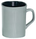 Personalized and Laser Engraved Ceramic Coffee Mug - Silver/Black