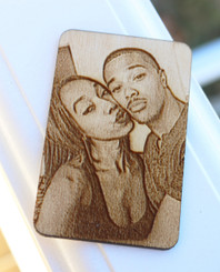 Laser Engraved Photo on Personalized Wallet Card
