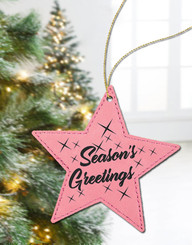 Personalized Leather Star Ornament