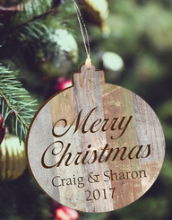 Personalized Barn Wood Ornament