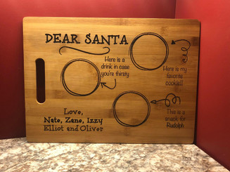 Personalized Santa Snack Tray