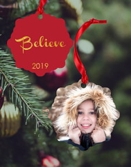 Personalized Believe Double Sided Ornament