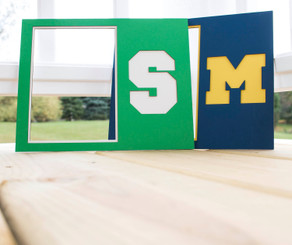 Personalized Laser Cut Double Matboard