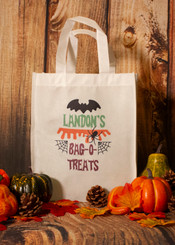 "Personalized ""Bag-O-Treats"" Trick or Treat Bag"