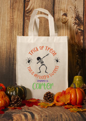 "Personalized ""Dabbing Bag of Sweets"" Trick or Treat Bag"