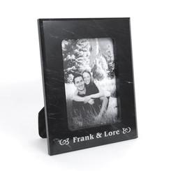 Black Marble Photo Frame