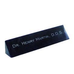 Black Marble Name Bar