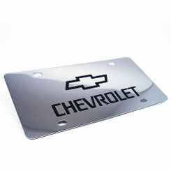Chrome Vanity License Plate