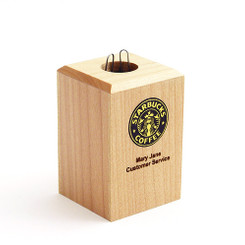 Maple Paper Clip Holder