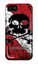 Distressed Dive Skull iPhone Cases