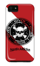 Dive Skull Circle iPhone Cases