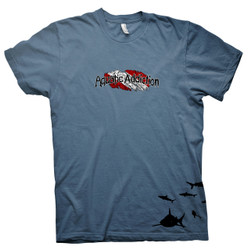 AQUATIC ADDICTION DIVE SHIRT - SHARKS - INDIGO COLORED TEE (front)