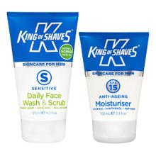 Daily Face Wash & Scrub + SPF15 Moisturiser Duo Pack