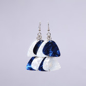 Chandelier II Blue & White Earring's