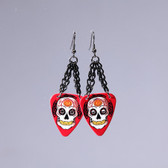 Sugar  Skull Red Earring's
