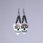 Sugar Skull  White Earring's