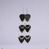 Rockstar l Black Earrings