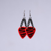 Chick Rock I Zebra Red Earrings
