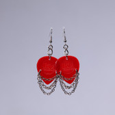 Hard Rock l Red Heart Earrings