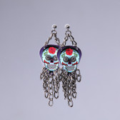 Fringe  Sugar Skull Rose Earring's