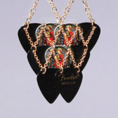 Layered Pendant Stained Glass Long Necklace