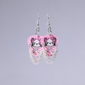 Hard Rock PInk Skulls Earring's
