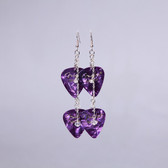 Crystals Purple Double Pick Earring's
