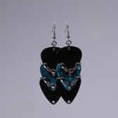 Scales l Teal Pick Earrings