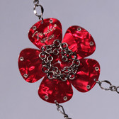 Flower Pendant Red Necklace