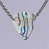 Guitar Pendant Necklace Abalone