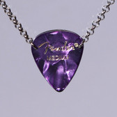 Guitar Pendant Necklace Purple