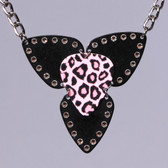 Mosaic Pendant Leopard Necklace