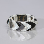 Guitar Band Bracelet Black & White