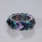 Guitar Band Bracelet Blue, Purple & Teal