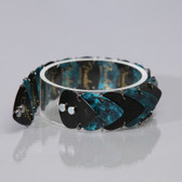 Mens Bracelet Black & Teal