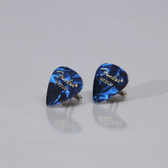 Mens Guitar Cufflinks Blue