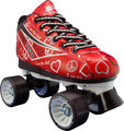 Pacer Heart Throb Red Roller Derby Quad Women's Speed Skates