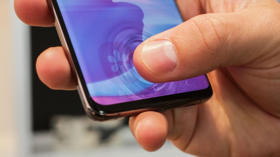 ultrasonic fingerprint sensor on Samsung Galaxy s10