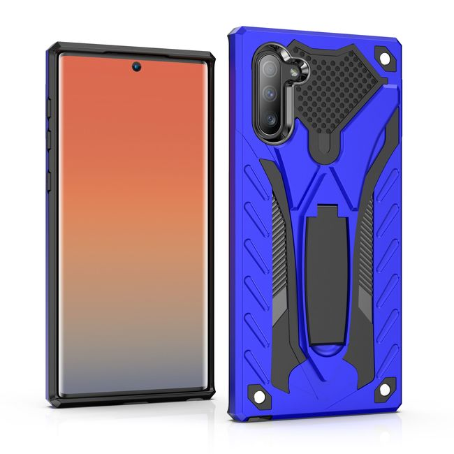 Samsung Galaxy Note 10 Case Blue PC+TPU Plastic Armour Protective Cover
