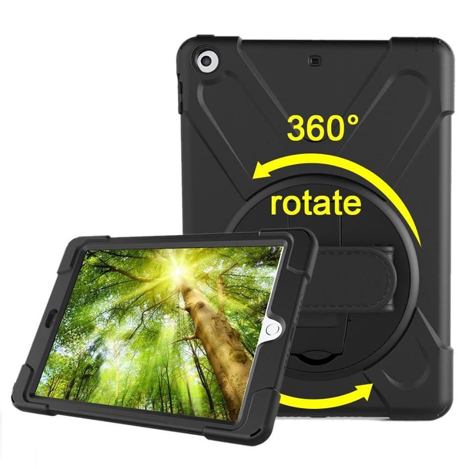 Black Hand-strap Armor iPad 2017, 2018 9.7-inch Case