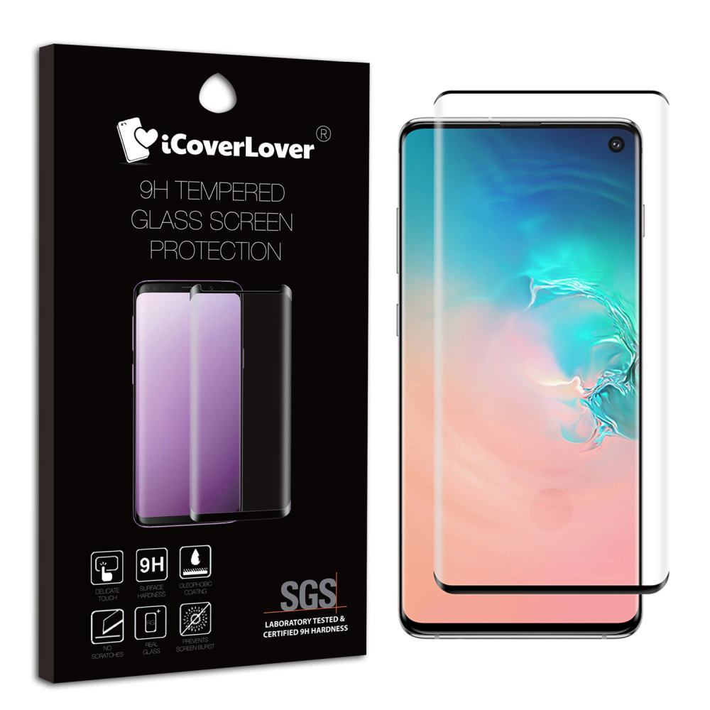 Black Samsung Galaxy S10 Full 3D Edge to Edge Tempered Glass Screen Protector