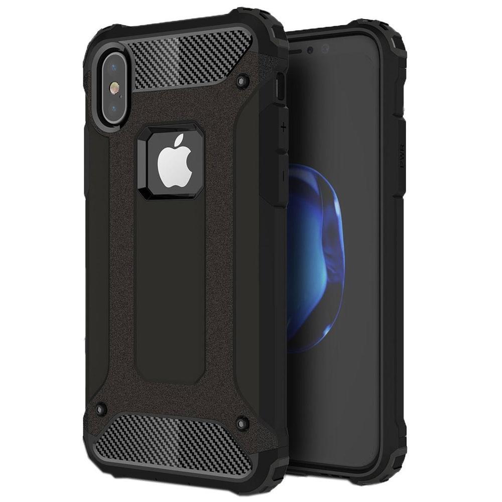 Black Tough Armor iPhone XS & X Case
