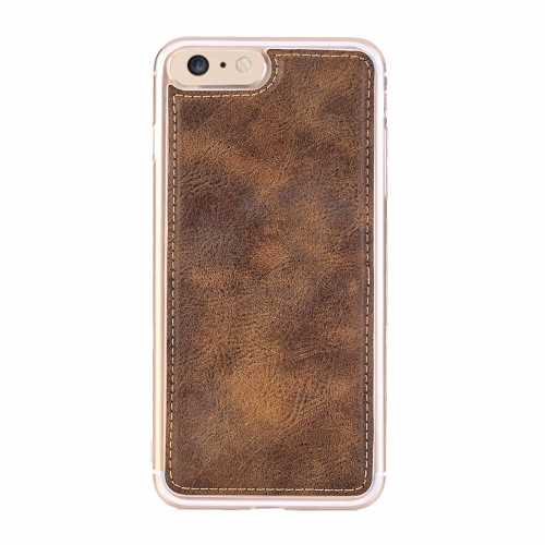 Coffee Retro Horse Textured Detachable Leather Wallet iPhone 6 & 6S Case