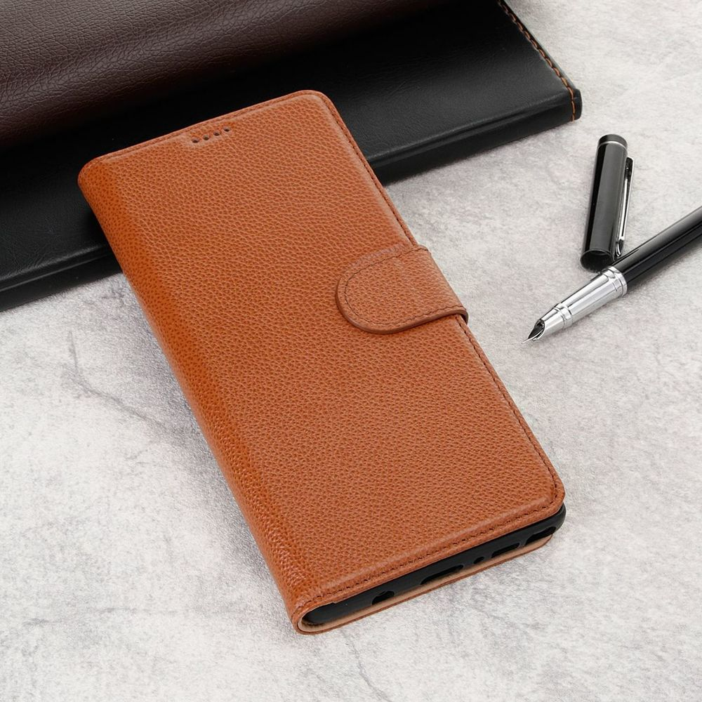 Fashion Brown Cowhide Genuine Leather Slim Wallet Samsung Galaxy NOTE 9 Case
