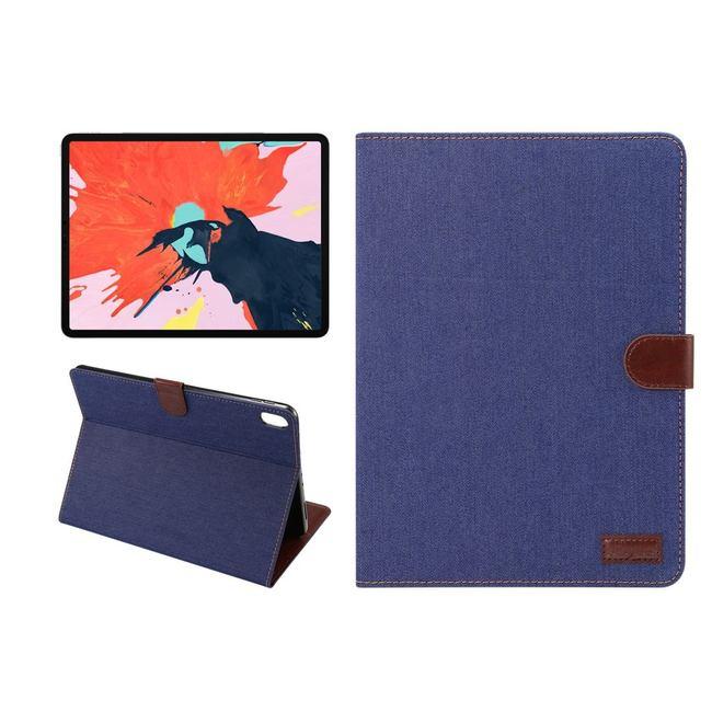 iPad Pro 11 Inch (2018) Case Dark Blue Denim PU Leather Horizontal Flip Folio Cover With Auto Sleep/Wake Function