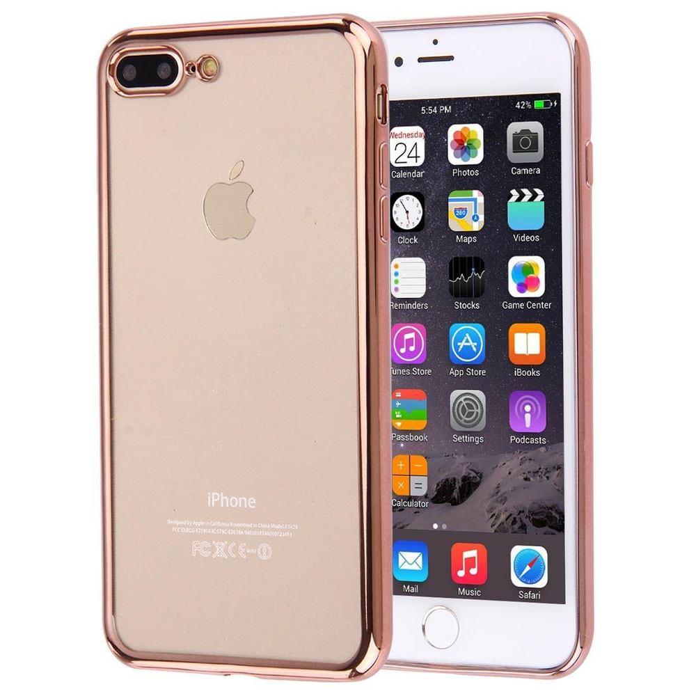 Rose Gold Shockproof Transparent iPhone 8 PLUS & 7 PLUS Case